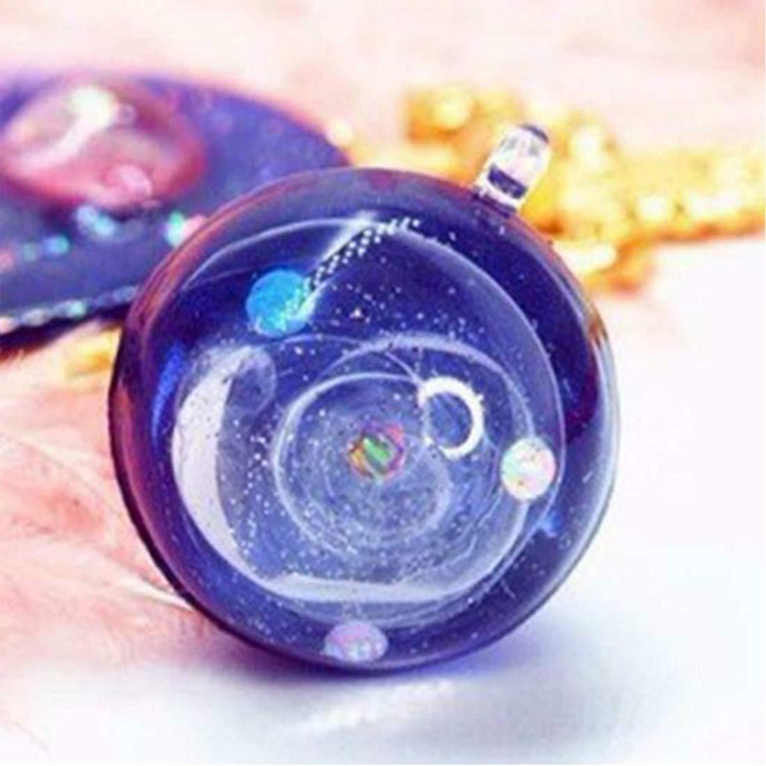 NoyoKere Molde de Resina de Silicona Transparente Arte de DIY Diferentes tama/ños Universo Forma de Bola Resina epoxi moldes para joyer/ía