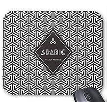 Mousepad Arabic Vector Pattern Design Mouse Mat