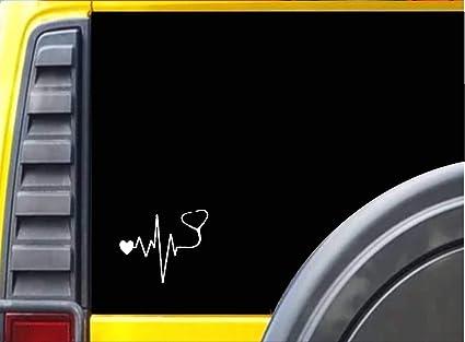 I Heart Camping Heartbeat Vinyl Car Window Decal Bumper Sticker US Seller