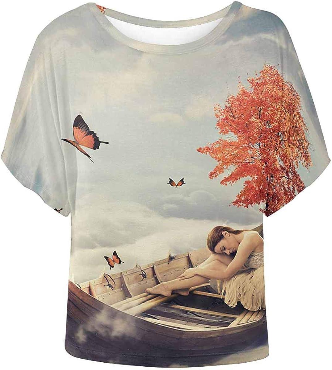 INTERESTPRINT Childs T-Shirt Bright Feathers Wonderful Print XS-XL
