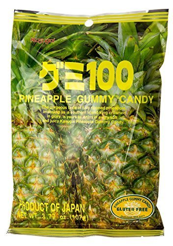 Kasugai-Gummy Candy Pineapple Flavor 3.77 Oz by Kasugai