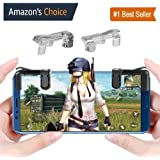 MobiExpress PUBG Trigger, Mobile Game Controller for Android and iPhone (Steel & Transparant)