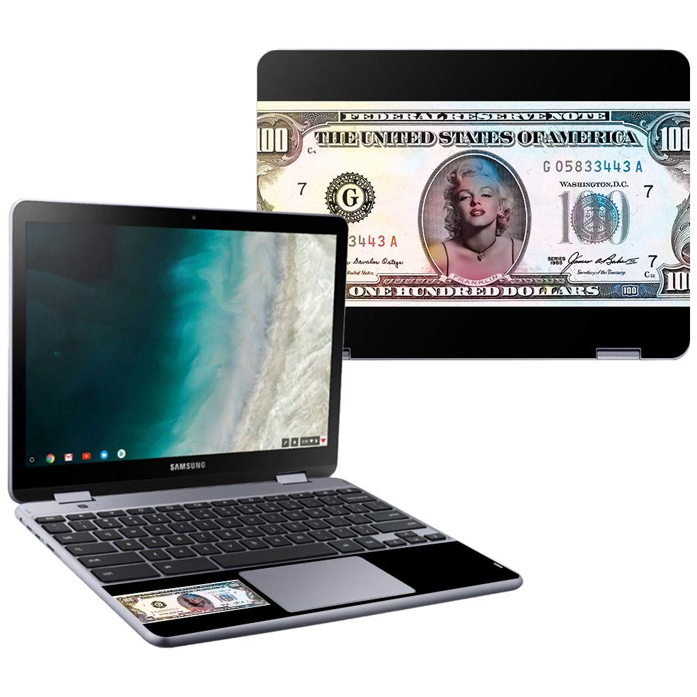 MightySkins Skin Compatible with Samsung Chromebook Plus LTE (2018) - Monroe Currency | Protective, Durable, and Unique Vinyl wrap Cover | Easy to Apply, Remove, and Change Styles | Made in The USA by MightySkins
