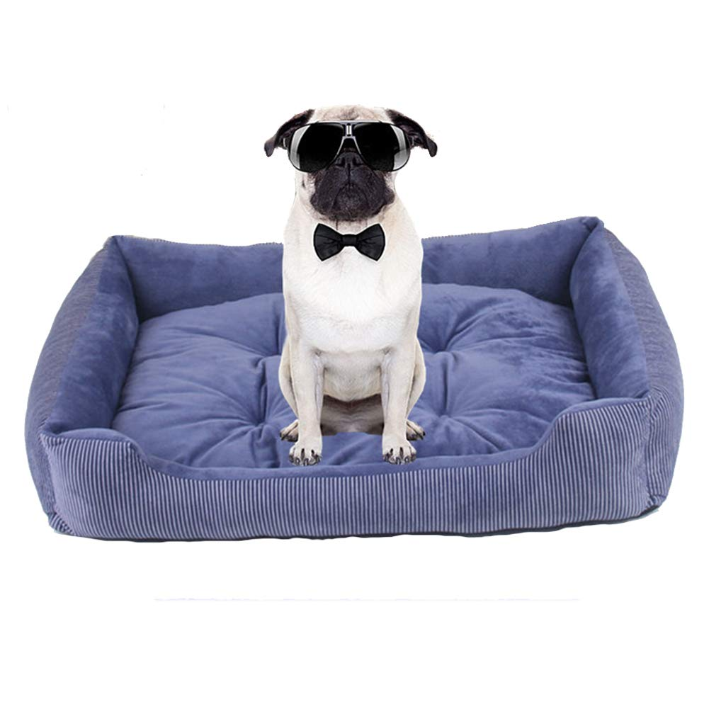 bluee XX-Large bluee XX-Large SXJXB The Dog's Bed, Plush Dog Beds, Non Slip,bluee,XXL