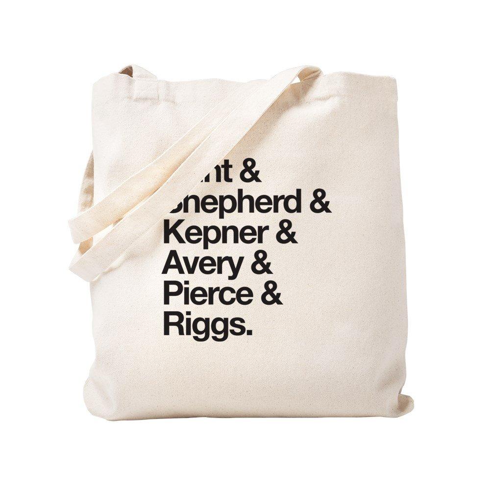 CafePress – グレーの文字最後名 – ナチュラルキャンバストートバッグ、布ショッピングバッグ S ベージュ 2020510721DECC2 B078TJ92MR S