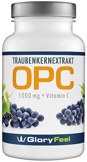 OPC Extracto de Semilla de Uva – 120 cápsulas de OPC veganas y concentradas. OPC