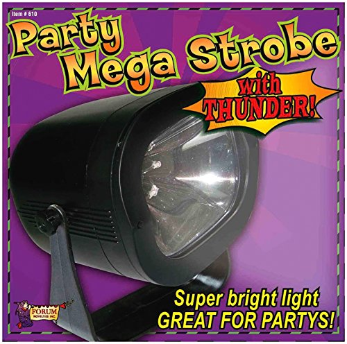 Forum Novelties Mega Strobe Super Bright Party Light with Thunder Sound Effects