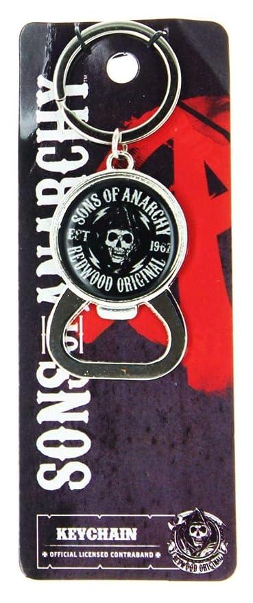 Sons of Anarchy Logo abrebotellas llavero: Amazon.es: Coche ...