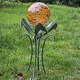 10 inch Orange Colorful Glass Gazing Balls for Garden