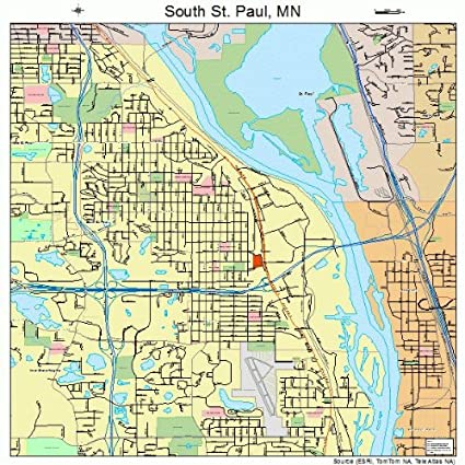 Amazon.com: Large Street & Road Map of South St. Paul ...