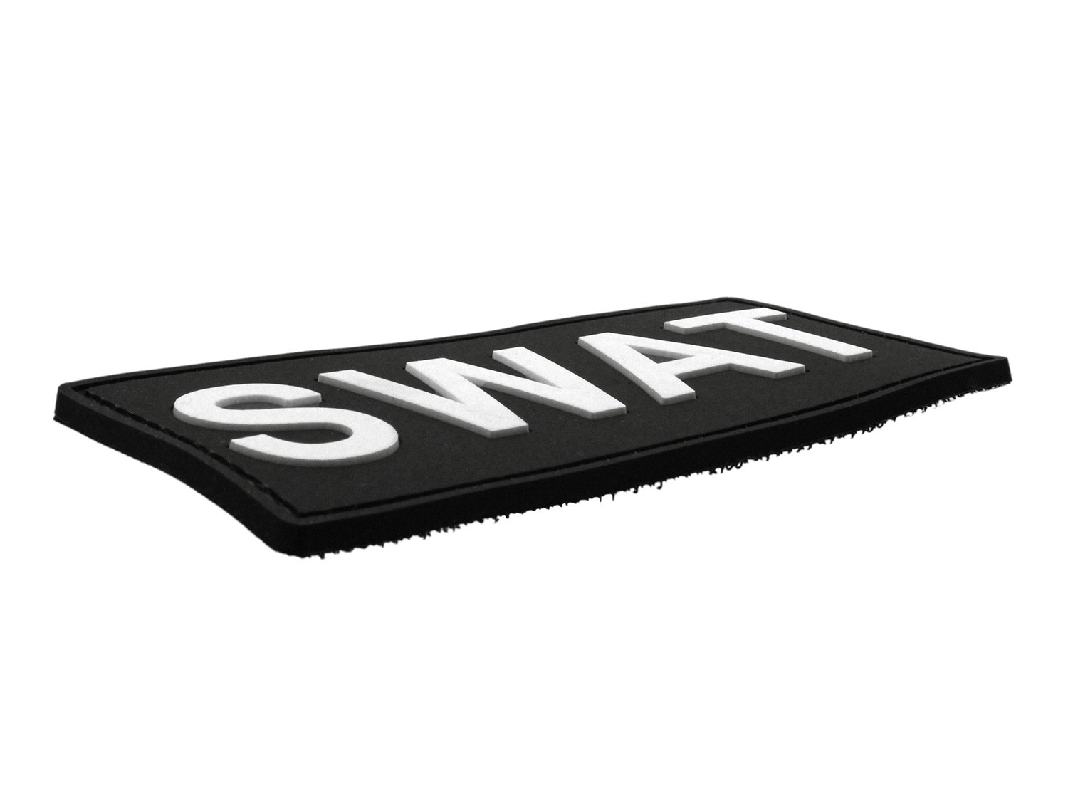 with velcro black 10x4,5cm SWAT - BE-X 3D Rubber Patch