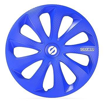 Sparco spc1474blc Sicilia rueda cover set, 14 pulgadas, Azul/carbono