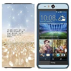 TECHCASE---Cubierta de la caja de protección para la piel dura ** HTC Desire Eye ( M910x ) ** --Esqueleto Closet Danza Cita divertida