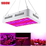LED Grow Light, NOPTEG 1000W Full Spectrum Grow Lamp with UV&IR for Greenhouse Hydroponic Indoor Plants Veg and Flower All Phases of Plant Growth (10W x100pcs Leds)