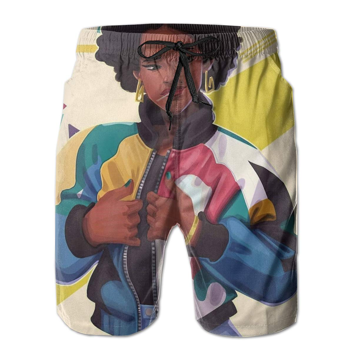 BE6h Mens Summer Surf Board Shorts Quick Dry Pants with Pockets for Mans
