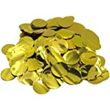Mybbshower 25mm Metallic Gold Foil Circle for Confetti Balloon Pack of 3000 Pieces