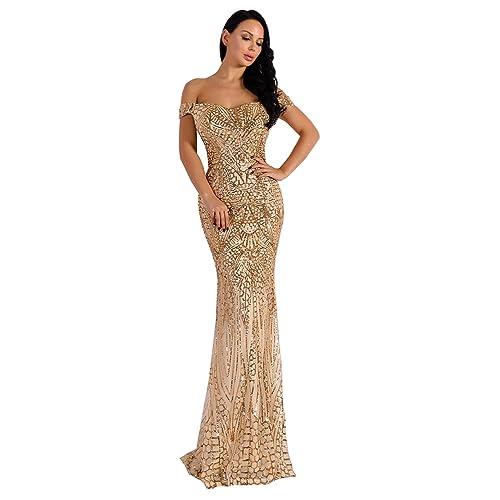 Gold Maxi Dress: Amazon.com