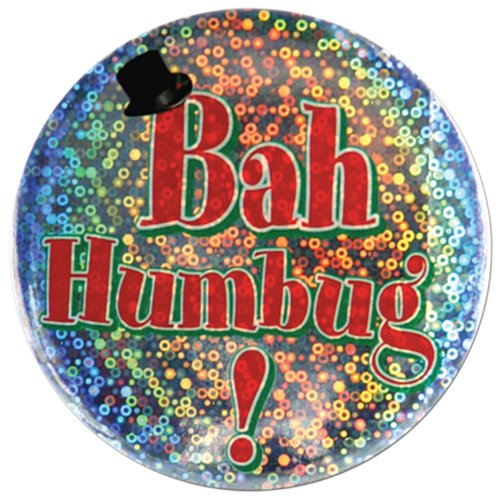 Bah Humbug Button Party Accessory (1 count) -