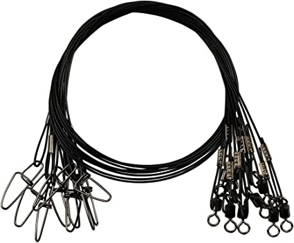 50CM 150Lb Thicken Lead Wire Fishing Leaders Swivels Snaps Copper Line Tackle