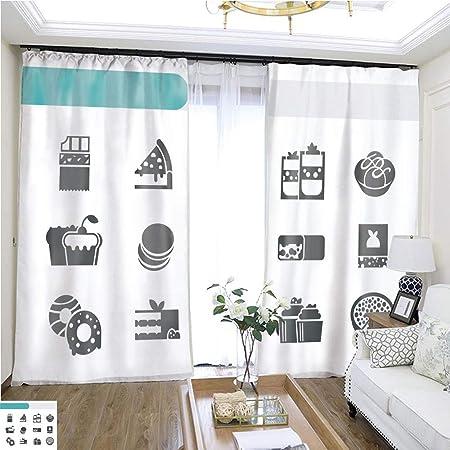 GaoCheng curtain Cortina de Puerta corredera para Ventana con Bandeja de Postre de 72 x 72 cm para habitación de Invitados, Cortinas de Alta precisión para dormitorios, Salones, cocinas, etc.: Amazon.es: Hogar