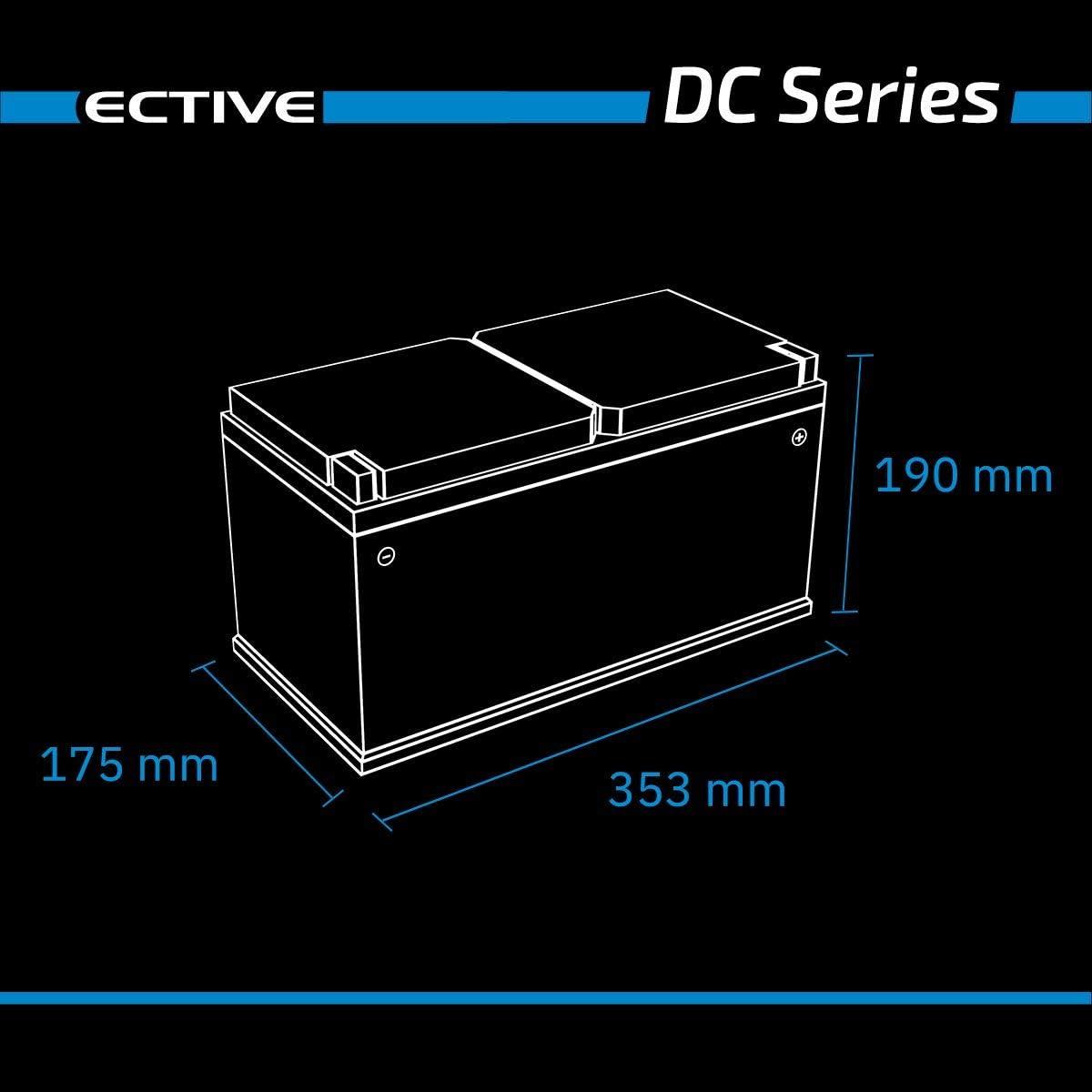 Ective 95ah 12v Gel Versorgungsbatterie Dc 95 Deep Cycle Solar Batterie Vrla Zyklenfest In 2 Varianten Wartungsfrei Auto