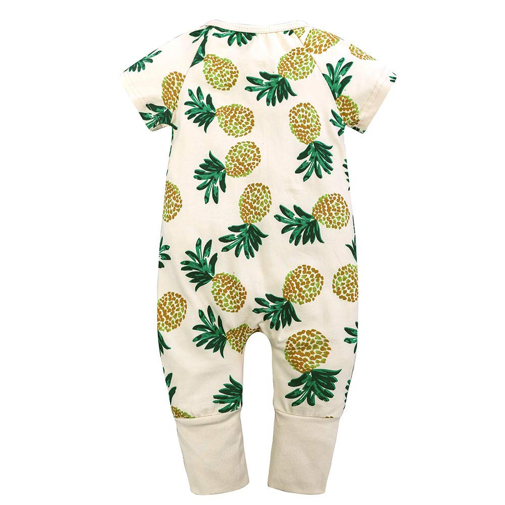 Gornorriss Baby Rompers Newborn Toddler Cartoon Print Jumpsuit Outfits