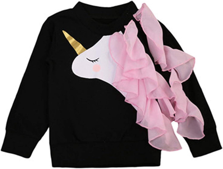 Baby Girl Clothes Long Sleeve Cotton Unicorn Tops Hoodies Sweatshirts Autumn Toddler