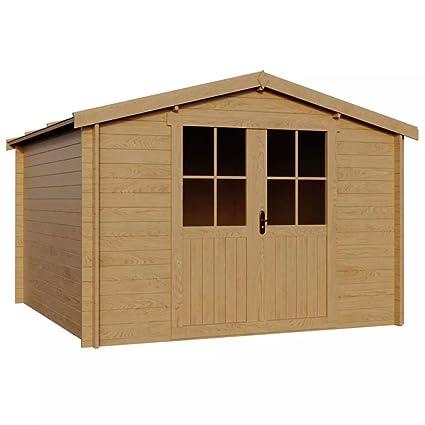 Festnight - Cobertizo de madera, 28 mm, para jardín, casa, cobertizo,