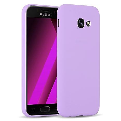 [ Samsung Galaxy A5 2017 ] - Carcasa JAMMYLIZARD Ultra Fina Goma De Silicona Jelly Back Cover, MORADO