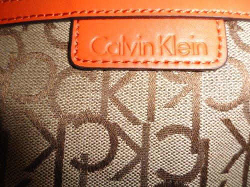 Women's Calvin Klein Purse Handbag Crossbody Brown/Khaki/Orange