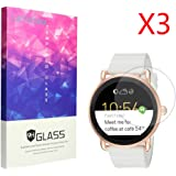 Fossil Q Wander Screen Protector, Lamshaw 9H Tempered Glass Screen Protector for Fossil Q Wander (3 Pack)