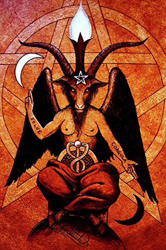 Baphomet Fabric Cloth Rolled Wall Poster Print -- Size: (36