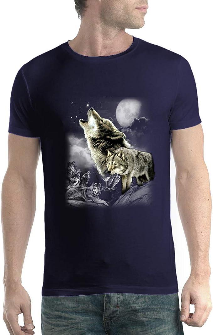 avocadoWEAR Los Lobos Salvajes Luna Hombre Camiseta XS-5XL Nuevo: Amazon.es: Ropa y accesorios