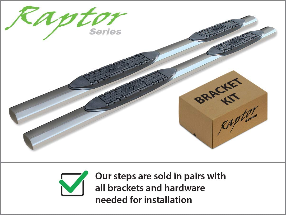 Raptor Series 0704-0258 4 inch Oval Stainless Side Bar Steps For 04-06 Toyota Tundra Double Cab