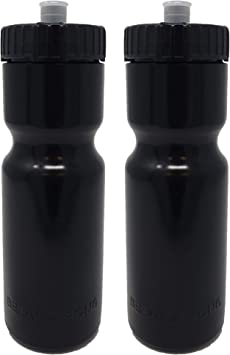 50 Strong Sports Squeeze Water Bottle 2 Pack 22 oz BPA Free Easy Open Push//Pu