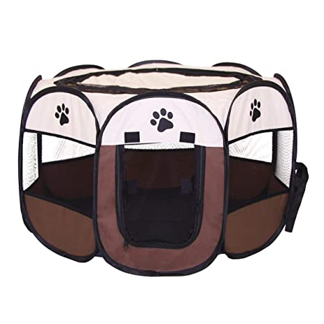 Carpa plegable rápida octogonal mascotas jaula plegable portátil perro parque infantil caseta de perro cachorro pluma