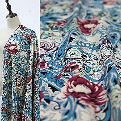 Tela de tela para coser por metro - Tela bohemia de algodón y lino ...