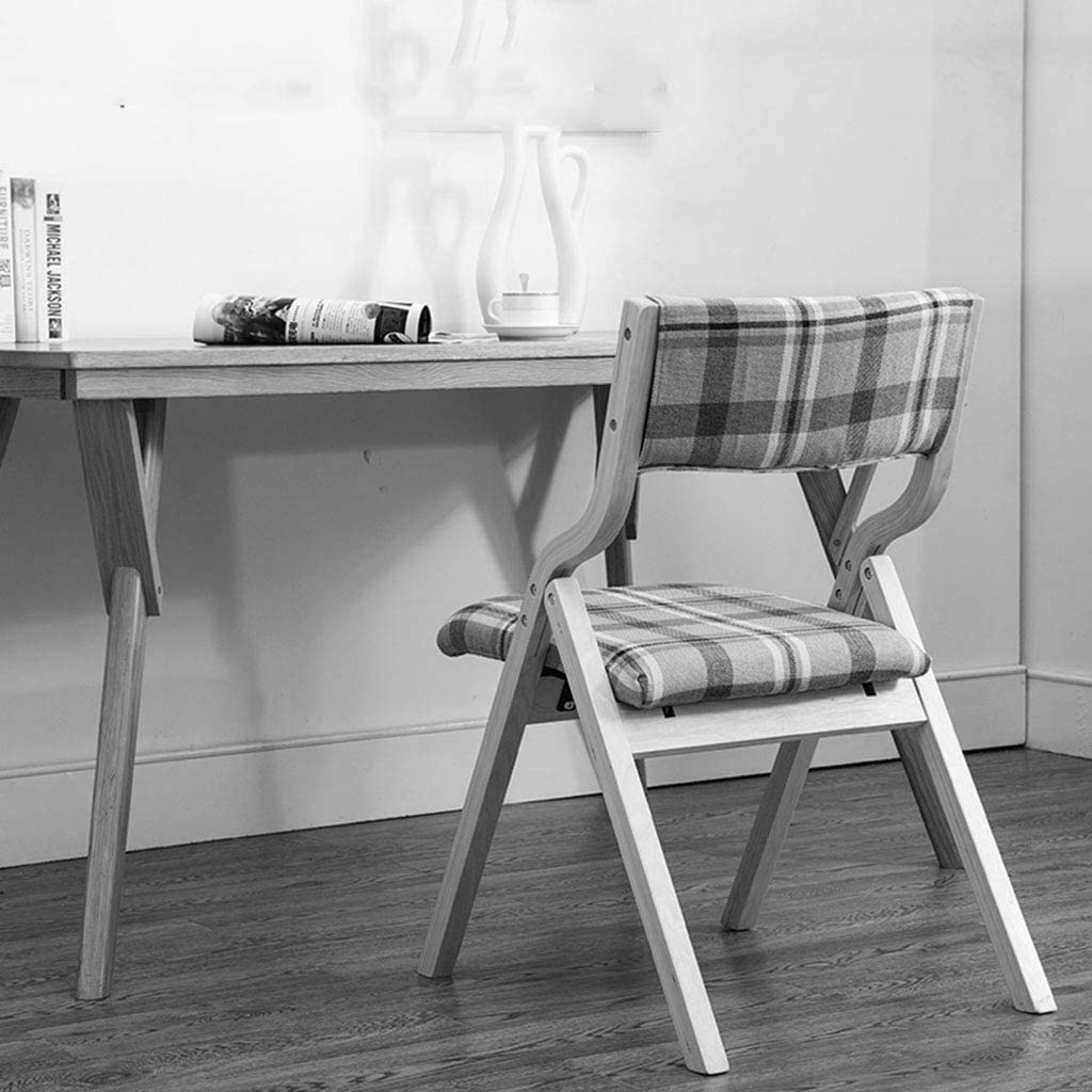 XUQIANG Nordic Wood Folding Chairs Desk Chair To Discuss Coffee Lounge After Stool (46 * 47.5 * 78.5cm) Folding chair (Color : A) L