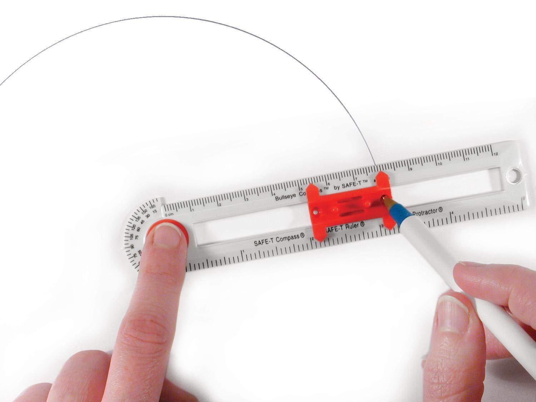 hand2mind Safe-T Bullseye Compass, Bulk Set for Classroom Math (Set of 30) by ETA hand2mind (Image #3)