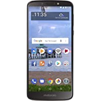 "Motorola Moto E5 (16GB, 2GB) 5.7"" Display, 4000 mAh All Day Battery, FM radio - (GSM+AT&T+Tmobile + Verizon) Factory Unlocked 4G LTE Smartphone - XT1920DL (US Warranty) (Gray)"