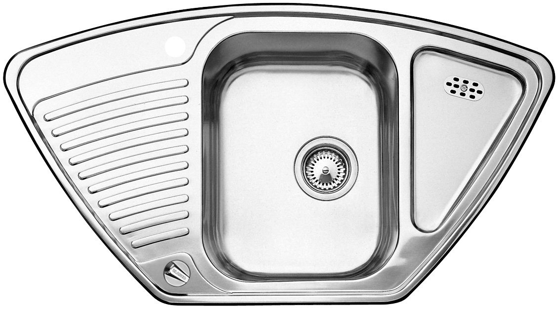 Blanco Toga 9 E Kitchen Sink, Stainless Steel, Natural Finish, 513604