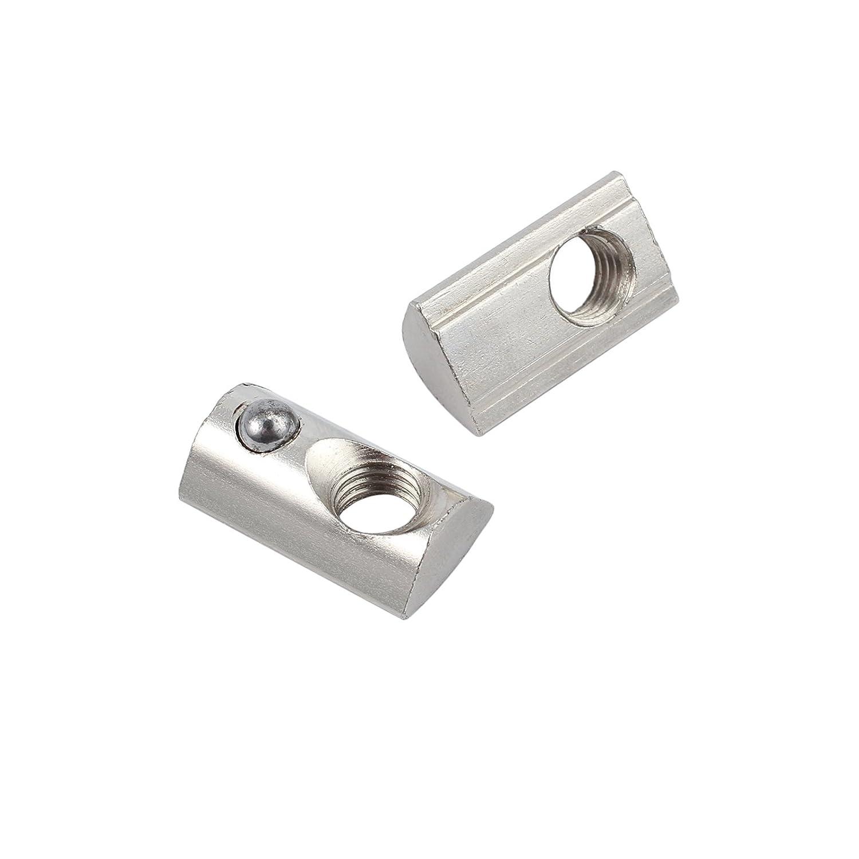 100/× Aluprofil 8 Schrauben Gewinde M8 Profil Nutenstein Kugel Nut f/ür Fastener Aluminiumprofil 4040 4080
