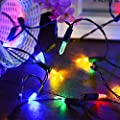 Vmanoo M5 Solar String Lights 100 LED Clear Mini Fairy Christmas Lighting