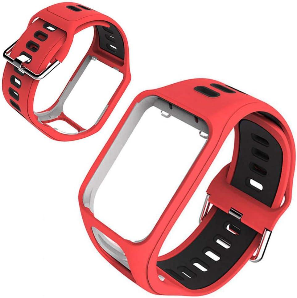 GoGlor Tomtom Correa para Tomtom Spark 3 Runner 3 Runner 2 Golfer Adventurer Cardio Music GPS Smartwatch, Multisport Correa Reloj Profesional Accesorios Premium Pulsera
