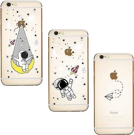 ChoosEU Silicone 3X Cover Compatibile con iPhone 6S Plus/iPhone 6 Plus Disegni Colorate Custodia Morbido per Ragazze Donne Uomo, Case Antiurto ...