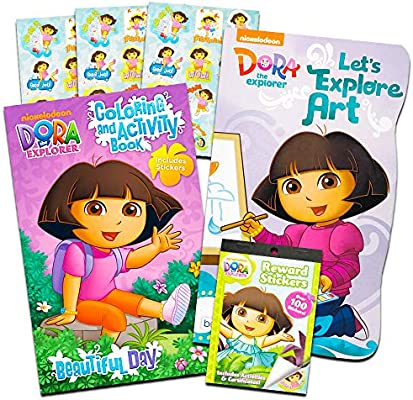 - Amazon.com: Dora The Explorer Activity Pack ~ Coloring Book, Board Book,  And Stickers!: Toys & Games