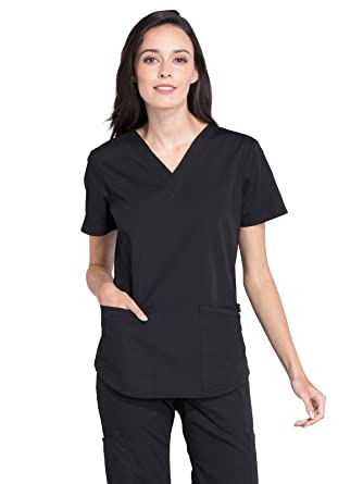 140e17366b3 Amazon.com: Cherokee Workwear Professionals Women's V-Neck Scrub Top ...