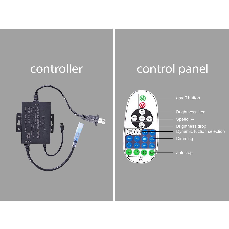 shine decor Single Color Dimmer Brightness Dimmer for 15MM Diameter Led Neon Lights