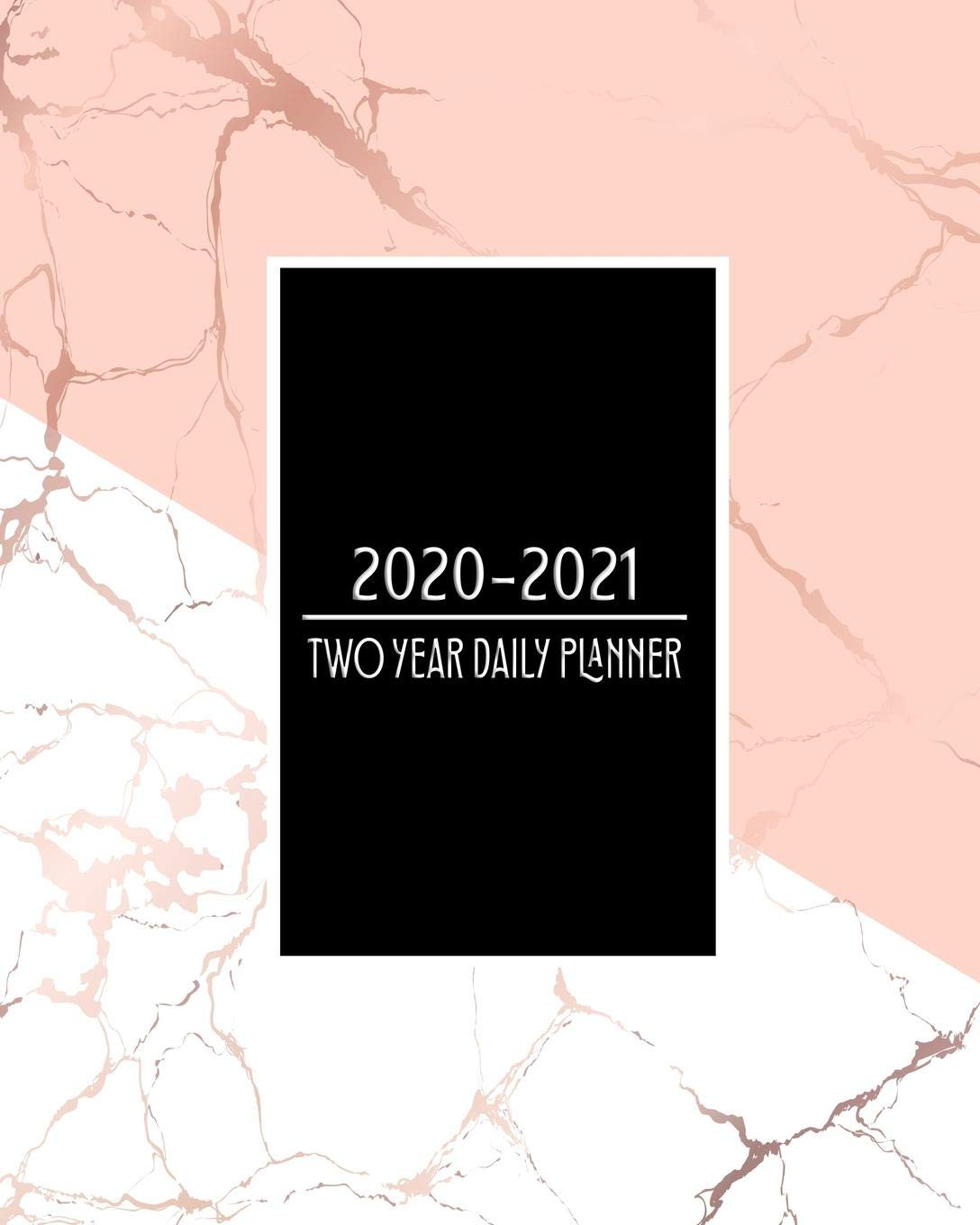 Amazon.com: 2020 - 2021 Two Year Daily Planner: Pink White ...