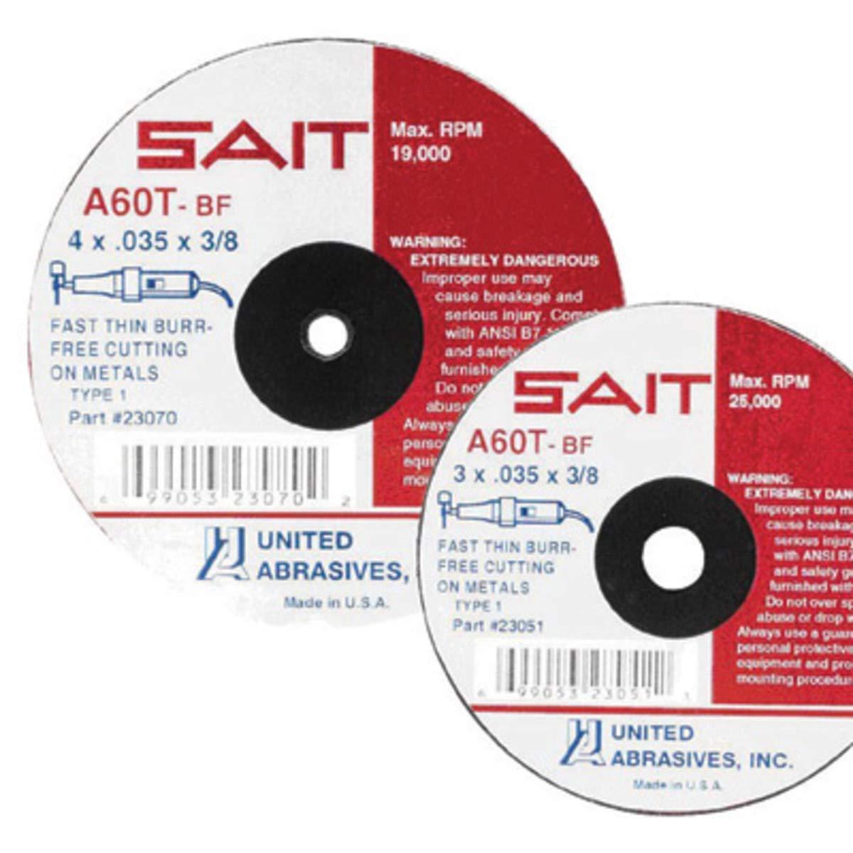United Abrasives 5'' X 7/8'' 60X Grit Z Blue Line Zirconium Closed Coat Resin Bond Fiber Disc by United Abrasives Inc.